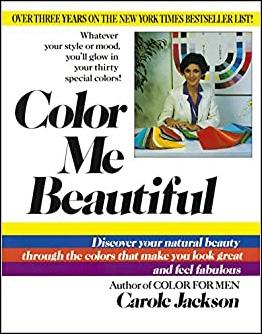 Livre succès populaire américain années 1980 color me beautiful